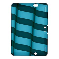 Curtain Stripped Blue Creative Kindle Fire Hdx 8 9  Hardshell Case