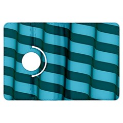 Curtain Stripped Blue Creative Kindle Fire Hdx Flip 360 Case