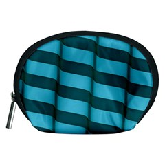 Curtain Stripped Blue Creative Accessory Pouches (medium)