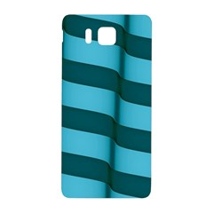 Curtain Stripped Blue Creative Samsung Galaxy Alpha Hardshell Back Case