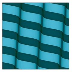 Curtain Stripped Blue Creative Large Satin Scarf (square)