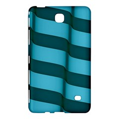 Curtain Stripped Blue Creative Samsung Galaxy Tab 4 (8 ) Hardshell Case