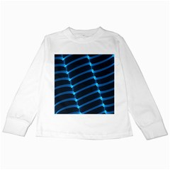 Background Neon Light Glow Blue Kids Long Sleeve T Shirts