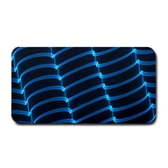 Background Neon Light Glow Blue Medium Bar Mats