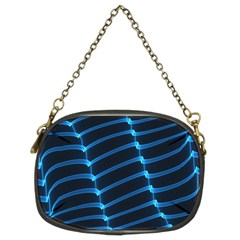 Background Neon Light Glow Blue Chain Purses (two Sides)
