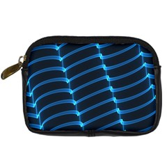 Background Neon Light Glow Blue Digital Camera Cases
