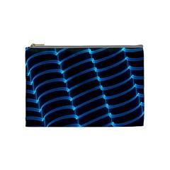 Background Neon Light Glow Blue Cosmetic Bag (medium)