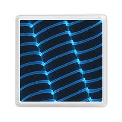 Background Neon Light Glow Blue Memory Card Reader (square)