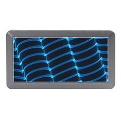 Background Neon Light Glow Blue Memory Card Reader (mini)
