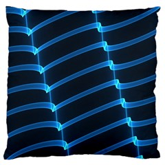 Background Neon Light Glow Blue Large Cushion Case (two Sides)
