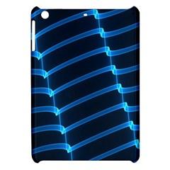 Background Neon Light Glow Blue Apple Ipad Mini Hardshell Case by Nexatart