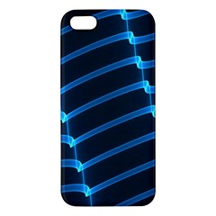 Background Neon Light Glow Blue Apple Iphone 5 Premium Hardshell Case