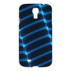 Background Neon Light Glow Blue Samsung Galaxy S4 I9500/i9505 Hardshell Case