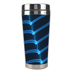 Background Neon Light Glow Blue Stainless Steel Travel Tumblers