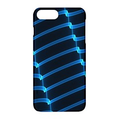 Background Neon Light Glow Blue Apple Iphone 8 Plus Hardshell Case