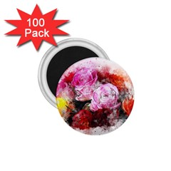 Flowers Roses Wedding Bouquet Art 1 75  Magnets (100 Pack)