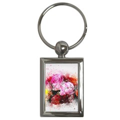 Flowers Roses Wedding Bouquet Art Key Chains (rectangle)