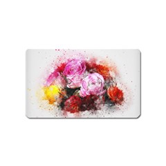 Flowers Roses Wedding Bouquet Art Magnet (name Card)