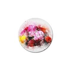 Flowers Roses Wedding Bouquet Art Golf Ball Marker (4 Pack)