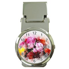 Flowers Roses Wedding Bouquet Art Money Clip Watches