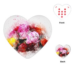 Flowers Roses Wedding Bouquet Art Playing Cards (heart)