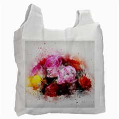 Flowers Roses Wedding Bouquet Art Recycle Bag (two Side)