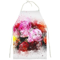 Flowers Roses Wedding Bouquet Art Full Print Aprons