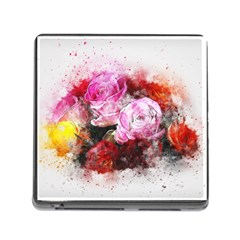 Flowers Roses Wedding Bouquet Art Memory Card Reader (square)