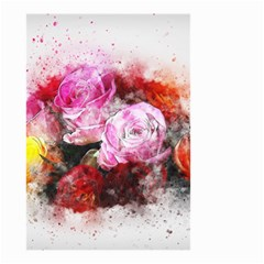 Flowers Roses Wedding Bouquet Art Small Garden Flag (two Sides)