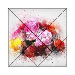 Flowers Roses Wedding Bouquet Art Acrylic Tangram Puzzle (6  X 6 )