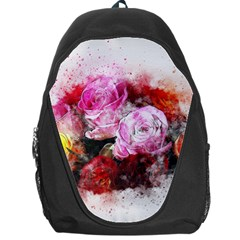 Flowers Roses Wedding Bouquet Art Backpack Bag