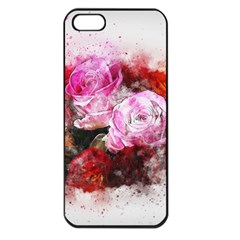Flowers Roses Wedding Bouquet Art Apple Iphone 5 Seamless Case (black) by Nexatart