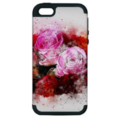 Flowers Roses Wedding Bouquet Art Apple Iphone 5 Hardshell Case (pc+silicone)