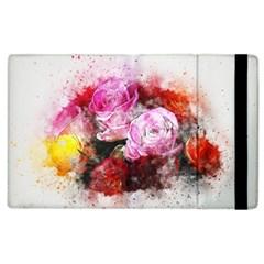 Flowers Roses Wedding Bouquet Art Apple Ipad 3/4 Flip Case