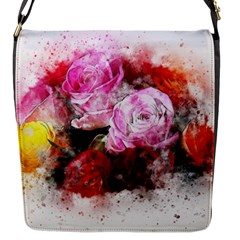 Flowers Roses Wedding Bouquet Art Flap Messenger Bag (s)