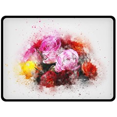 Flowers Roses Wedding Bouquet Art Double Sided Fleece Blanket (large)  by Nexatart