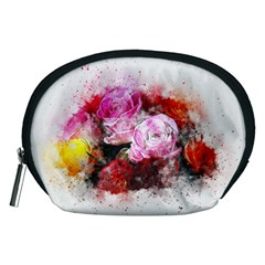 Flowers Roses Wedding Bouquet Art Accessory Pouches (medium)
