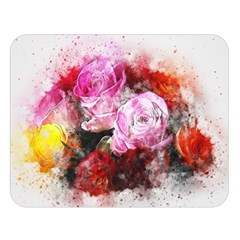 Flowers Roses Wedding Bouquet Art Double Sided Flano Blanket (large)