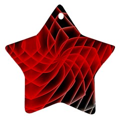 Abstract Red Art Background Digital Ornament (star)