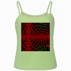 Abstract Red Art Background Digital Green Spaghetti Tank