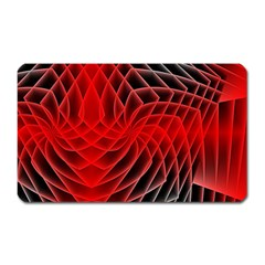 Abstract Red Art Background Digital Magnet (rectangular)