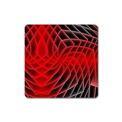Abstract Red Art Background Digital Square Magnet
