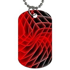 Abstract Red Art Background Digital Dog Tag (two Sides) by Nexatart