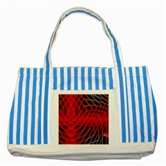 Abstract Red Art Background Digital Striped Blue Tote Bag by Nexatart