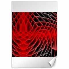 Abstract Red Art Background Digital Canvas 12  X 18