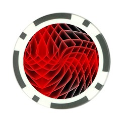 Abstract Red Art Background Digital Poker Chip Card Guard