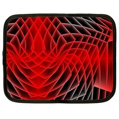 Abstract Red Art Background Digital Netbook Case (large)