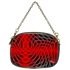 Abstract Red Art Background Digital Chain Purses (one Side)