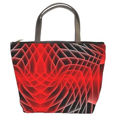 Abstract Red Art Background Digital Bucket Bags