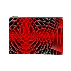 Abstract Red Art Background Digital Cosmetic Bag (large)